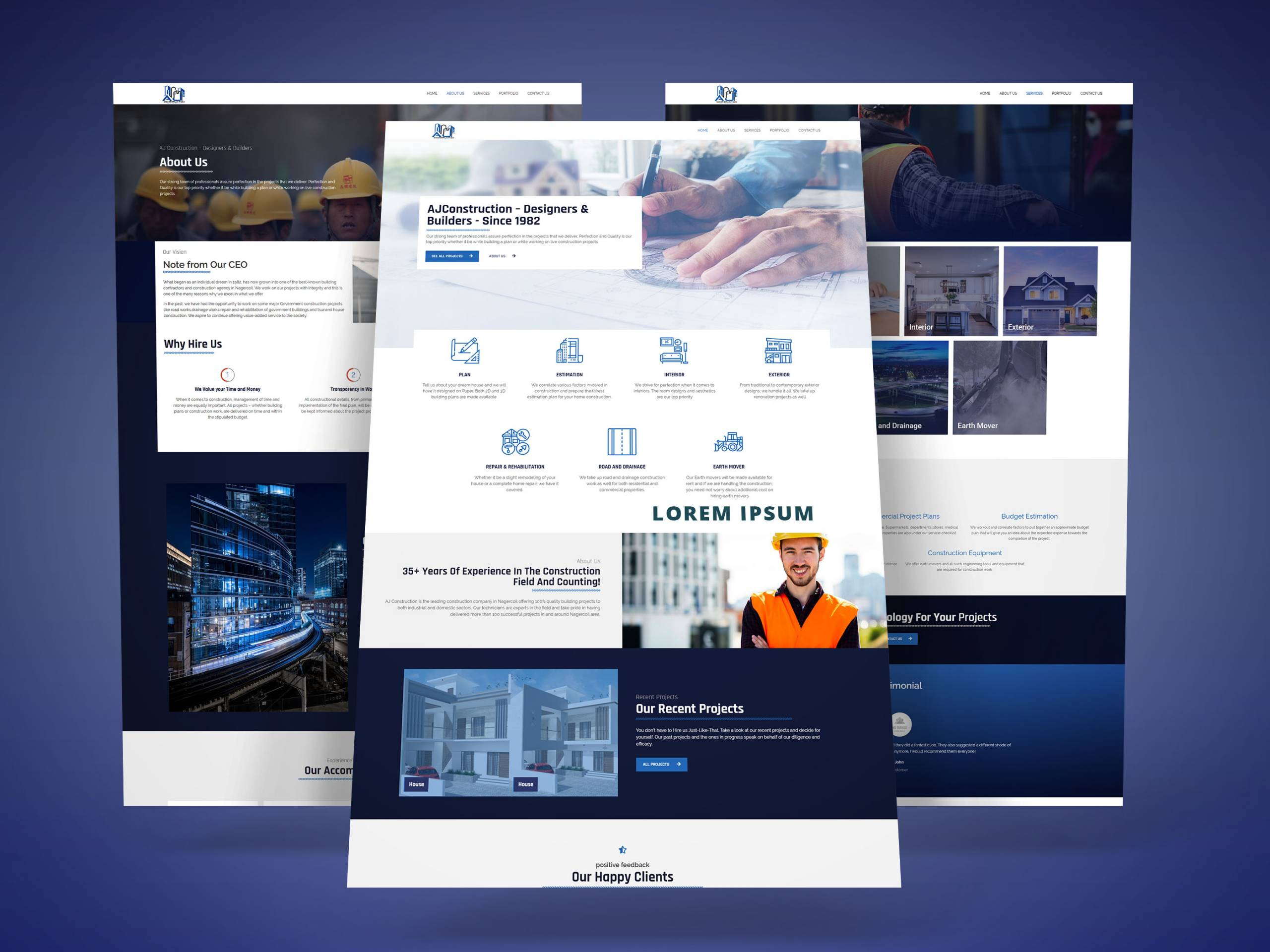 Aj Construction Website Design Bitzburg